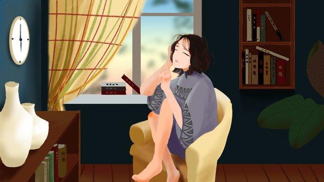 original cartoon illustration little girl llustration image illustration image
