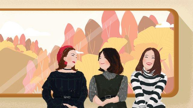 오리지널 good morning world greetings girl 삽화 소재 삽화 이미지