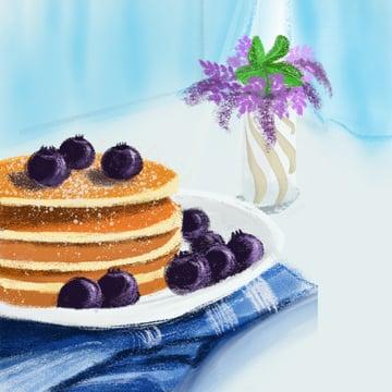 Good morning world small fresh breakfast illustration, Good Morning World, Small Fresh, Breakfast illustration image