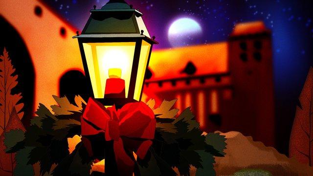 Спокойной ночи ночью ночь Ночная сценаДревняя  архитектура  ночи PNG и PSD illustration image