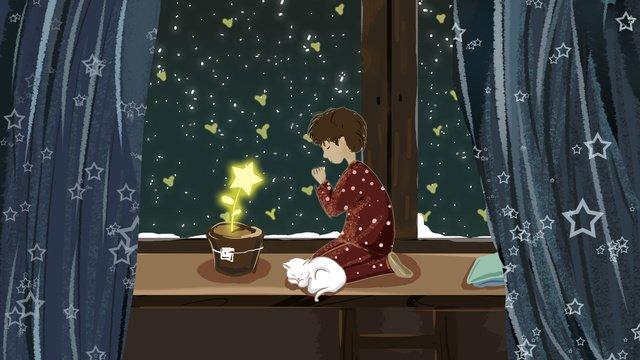 Good night hello series wish llustration image
