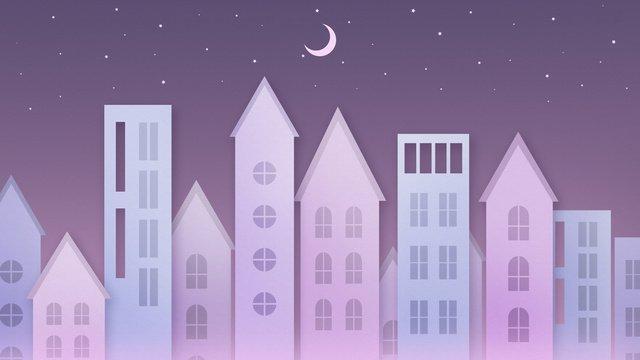 Спокойной ночи привет тихо лунный свет здание Ресурсы иллюстрации