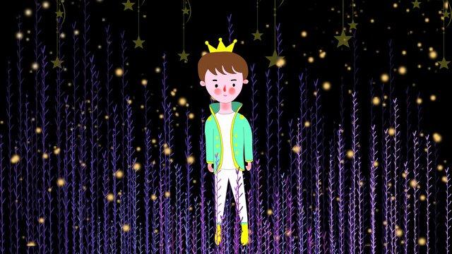 परियों की कहानी जंगल में छोटे राजकुमार का चित्रण चित्रण छवि चित्रण छवि