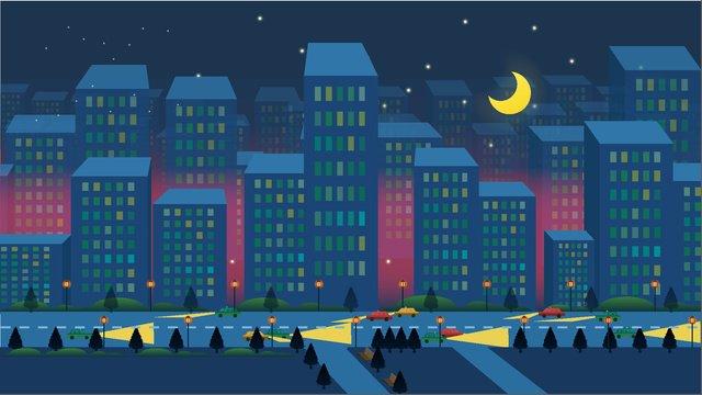 Good night world illustration, Good Night, World, Peaceful illustration image