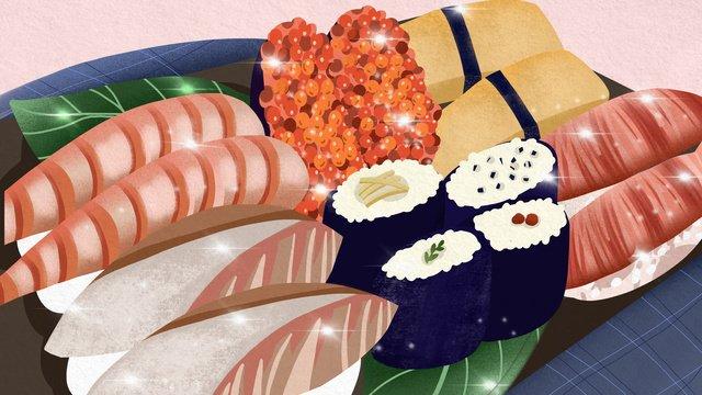 gourmet lớn chiến đấu đĩa sushi thực tế có thể được minh họa thương mại Hình minh họa