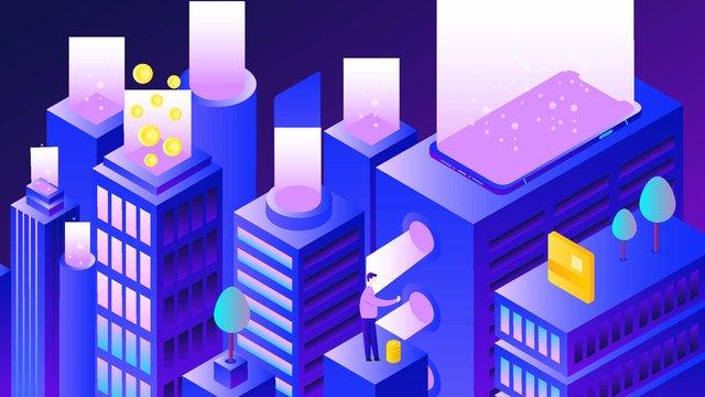 Minh họa công nghệ tài chính gradient 25dĐộ  Dốc  2 PNG Và Vector illustration image