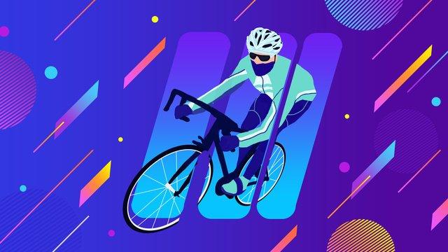 cảnh gradient trò chơi châu Á cuộc đua xe đạp vận động viên Hình minh họa