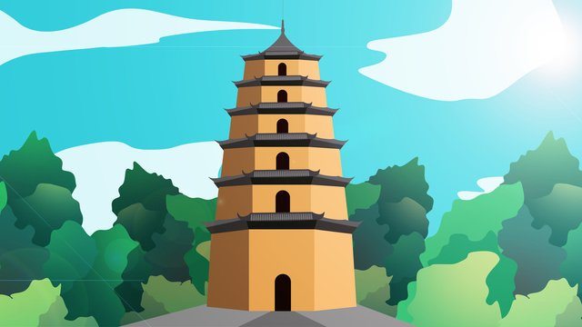 ancient tower building temple llustration image illustration image