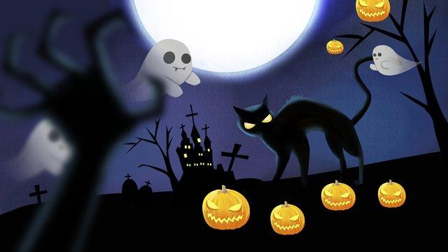 gloomy night halloween horror atmosphere illustration llustration image illustration image