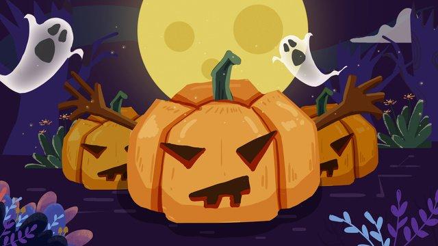 Halloween minh họa bí ngôHalloween  Bí  Ngô PNG Và PSD illustration image