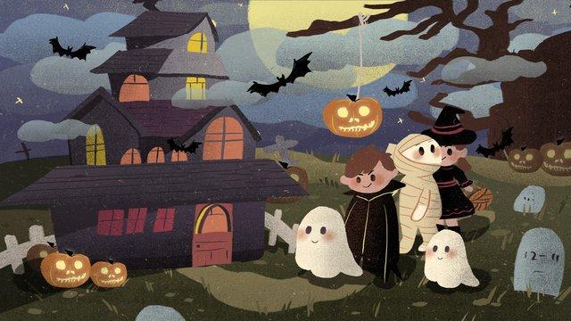 halloween trẻ em minh họa kinh dị Hình minh họa Hình minh họa