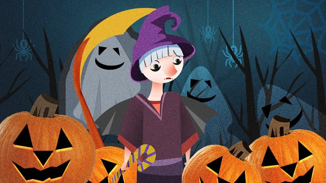 halloween witch haunts night carnival illustration llustration image