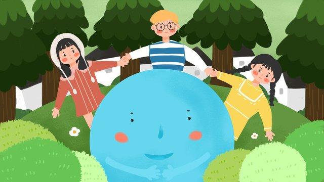 happy international childrens day llustration image illustration image