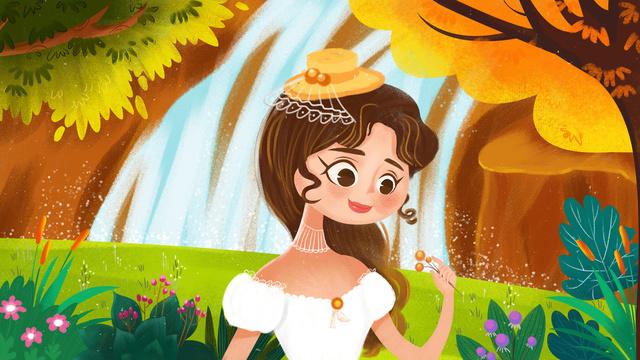 Forest princess cure illustration llustration image