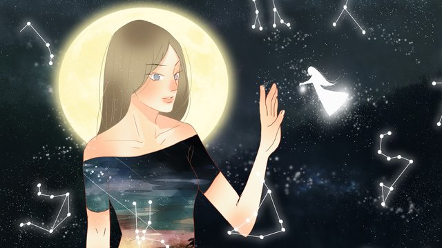healing the romantic and beautiful twelve constellations llustration image