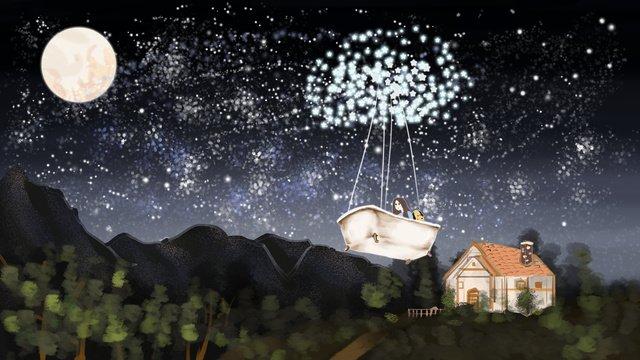 สาว starry skywalking รักษา ภาพ