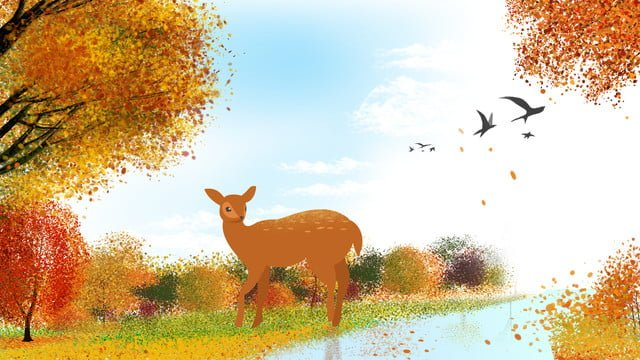Autumn hello leaves illustration, Hello Autumn, Autumn, Fallen Leaves illustration image