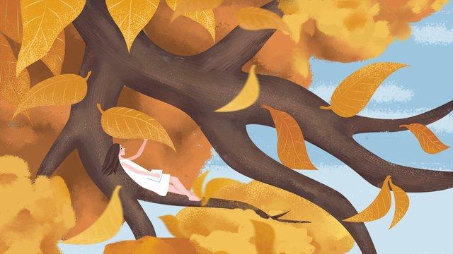 秋こんにちは小さな新鮮なイラスト イラスト素材 イラスト画像