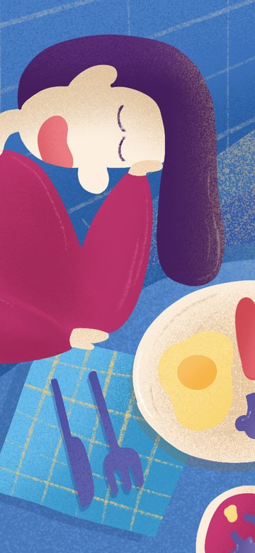 good morning blue cure gradient yang guan table illustration illustration image