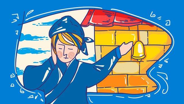 Идиоматическая история крышка уха украсть цвет рисование линий инсульт оригинальная ручная роспись иллюстрации Ресурсы иллюстрации Иллюстрация изображения
