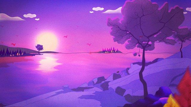 イディオムストーリーサンセット西山ドリームシリーズ イラスト素材 イラスト画像