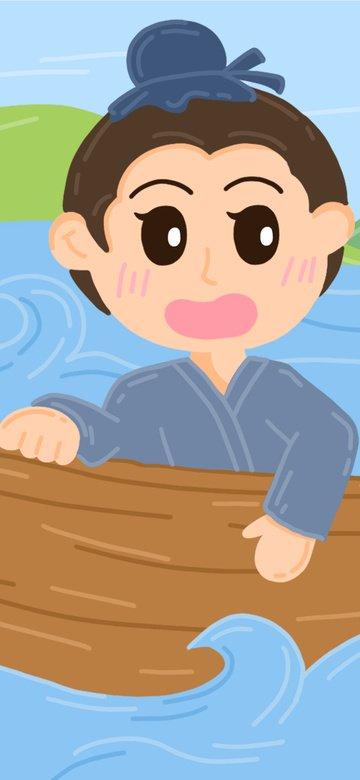 câu chuyện thành ngữ khắc thuyền tìm kiếm phim hoạt hình dễ thương trẻ em minh họa Hình minh họa Hình minh họa