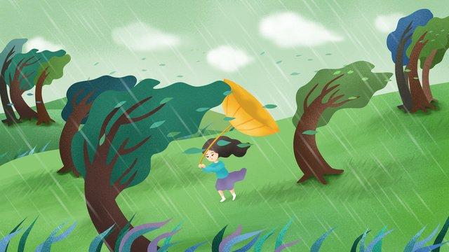 Original hand-painted illustration idiom story storm, Idiom Story, Idiom, Storm illustration image