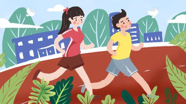 Minh họa ban đầu trường thể thao chạyMinh  Họa  Cuộc PNG Và PSD illustration image
