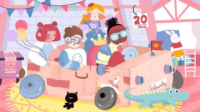 childrens bedroom happy play international day childlike creative illustration llustration image