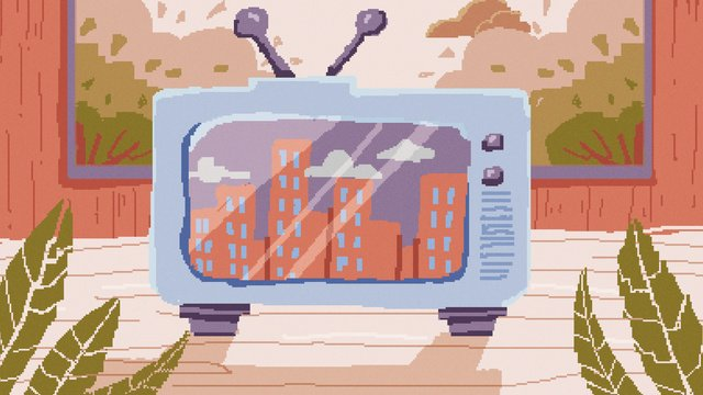 80 के दशक रेट्रो पिक्सेल विंटेज टीवी चित्रण चित्रण छवि चित्रण छवि