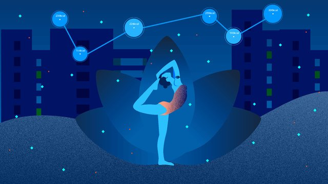 intelligent Yoga Technology future, Vector Illustration, Illustration, Intelligent illustration image