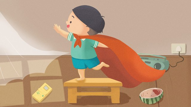international childrens day little superman illustration llustration image illustration image