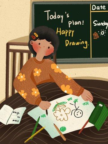ngày quốc tế thiếu nhi vẽ những bức tranh minh họa dễ thương và ấm áp tại nhà Hình minh họa
