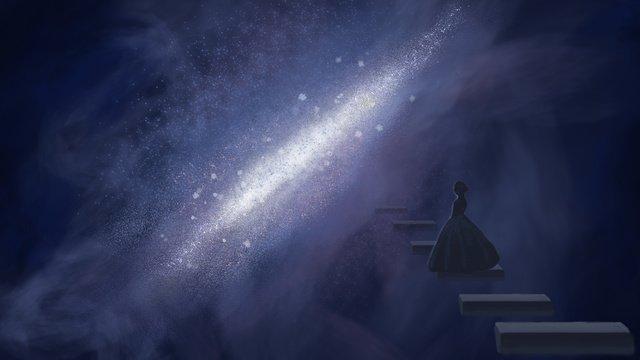 escada do país das maravilhas de sleepwalking Material de ilustração