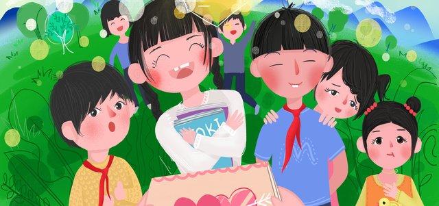 chăm sóc phúc lợi công cộng trẻ em bị bỏ lại tặng sách từ thiện cậu bé hy vọng minh họa bằng phẳng Hình minh họa