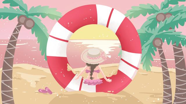 작은 신선한 편지 會想 시리즈 수영 서클 문자 o 삽화 소재 삽화 이미지
