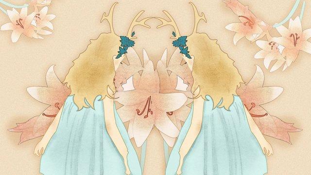 Hoa lily minh họa gốc gặp gạcHoa  Huệ  Gặp PNG Và PSD illustration image