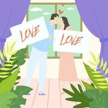 Wedding ceremony series, Love, Wedding, Warm illustration image