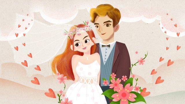 mùa cưới lãng mạn minh họa gốc Hình minh họa Hình minh họa