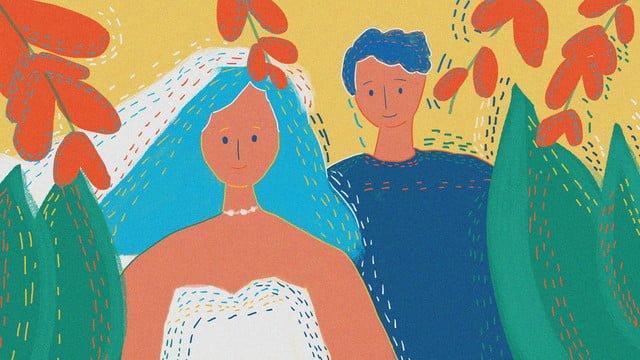 로맨틱 한 웨딩 미적 빈티지 텍스처 삽화 소재 삽화 이미지
