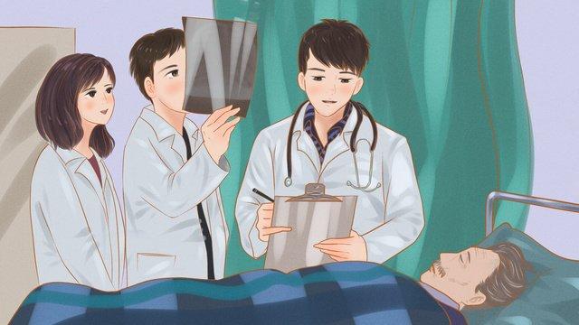 医療現場の医師は患者に病気の診断を下します イラスト素材 イラスト画像