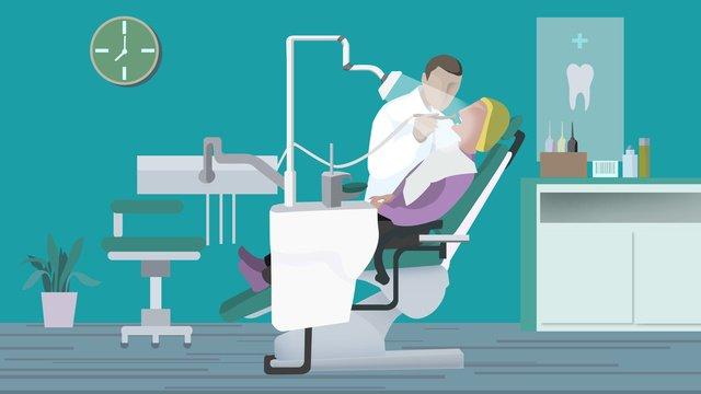 Медицинская сцена стоматологический осмотр национальный любовь зуб день иллюстрация плоский ветер Ресурсы иллюстрации Иллюстрация изображения