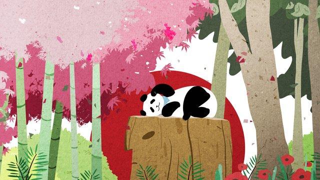 आराध्य पालतू जानवर श्रृंखला चिकित्सा विशाल पांडा प्यारा कार्टून चित्रण चित्रण छवि चित्रण छवि