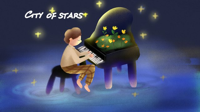 midnight city star boy chơi piano minh họa Hình minh họa