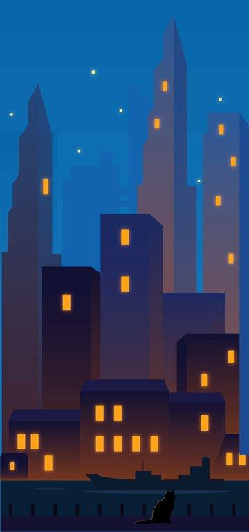 midnight city llustration image