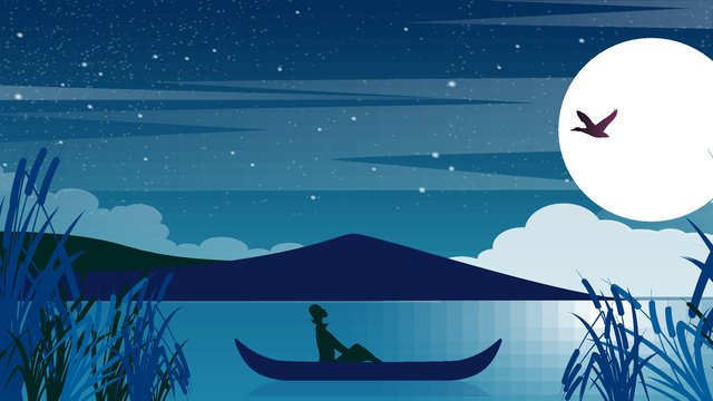 Moon cartoon vector illustration, Moon, Cartoon, Vector illustration image