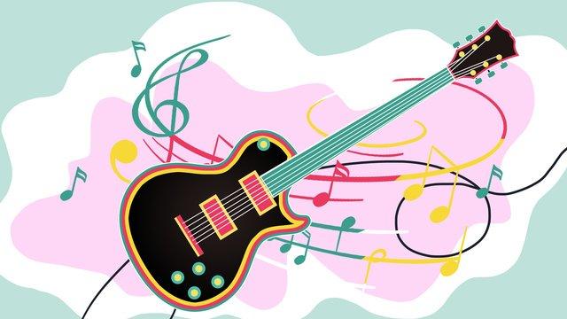 music guitar llustration image illustration image