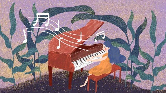 मधुर पियानो संगीत चित्रण छवि
