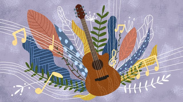 Creative vintage texture music festival guitar illustration llustration image illustration image