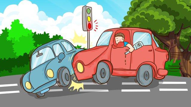 国家交通安全、毎日の飲酒運転、危害、手描きのオリジナルイラスト イラスト素材 イラスト画像
